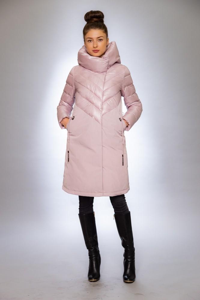 Женская куртка зимняя  F 1281  пудра