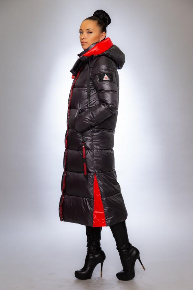 Женская куртка зимняя F 1367 графит