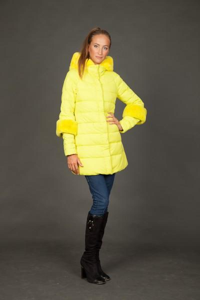 Женская куртка зимняя 1521. искусственный мех
